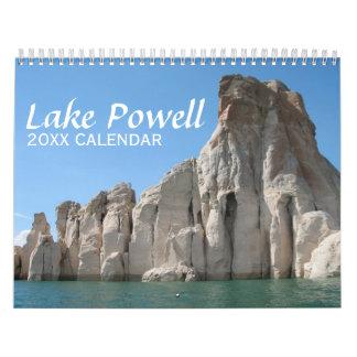 Calendário Fotografia do viagem de Powell do lago