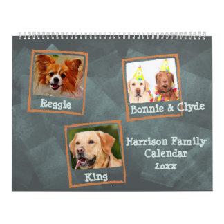 Calendário Fotos de família ou fotos do animal de estimação