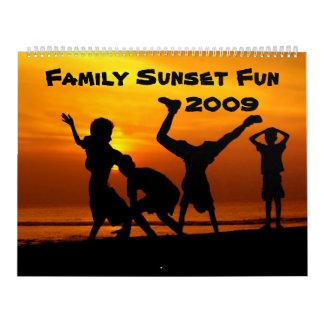 Calendário mensal do divertimento 2009 do por do