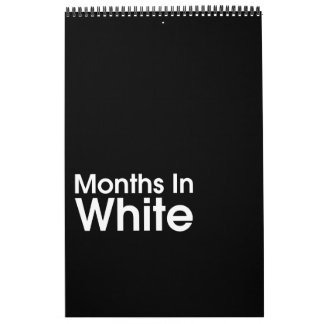Calendário Meses nas pimentas 2018 de Leslie do ~ do branco