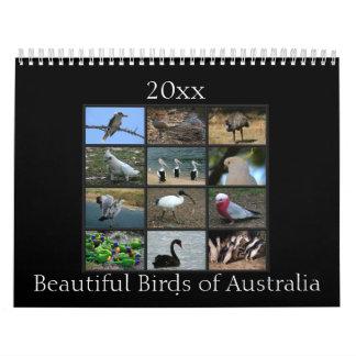 Calendário Pássaros australianos coloridos