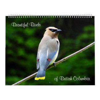 Calendário Pássaros bonitos, do Columbia Britânica