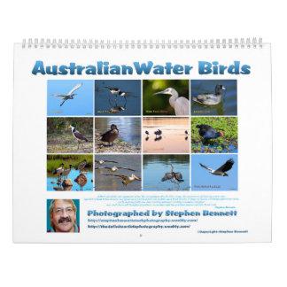 Calendário Pássaros de água australianos