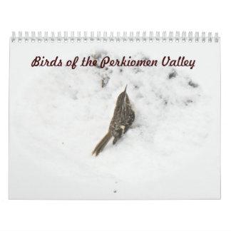 Calendário - pássaros do vale de Perkiomen