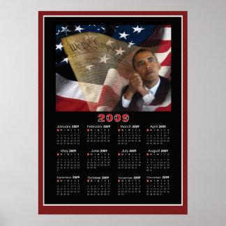 Calendário patriótico de Barack Obama 2009 Poster