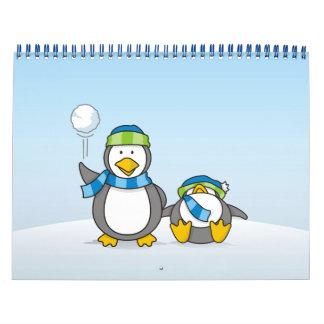 Calendário Pinguins Snowballing