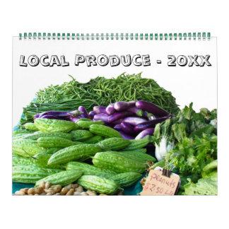 Calendário Calendário - produto local por este ano
