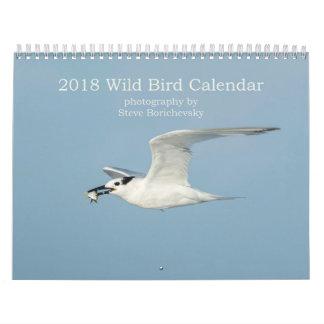 Calendário selvagem do pássaro 2018