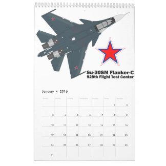 Calendário Sukhoi Su-30SM Flanker-C VKS
