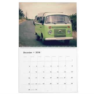Calendário velho do carro