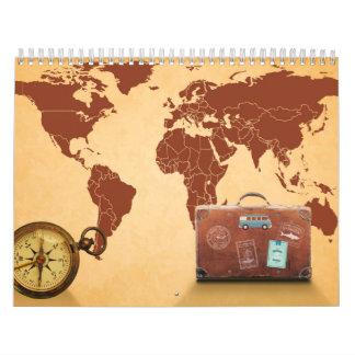 Calendário Viagem do mundo
