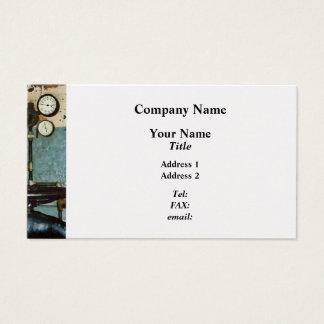 Calibres na oficina de construção mecânica cartão de visitas