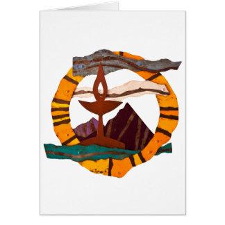 Cálice de UUSS, Universalista unitário, UU, Cartão Comemorativo