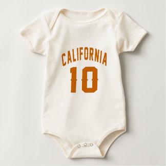 Califórnia 10 designs do aniversário macacãozinho para bebê