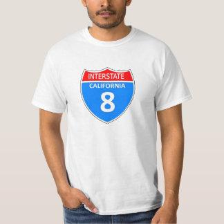 Califórnia 8 de um estado a outro camisetas