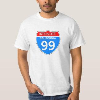 Califórnia 99 de um estado a outro t-shirts
