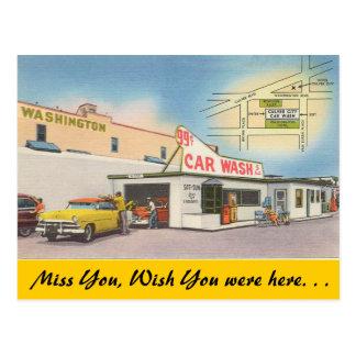 Califórnia, lavagem de carros da cidade de Culver Cartão Postal