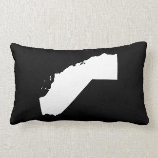 Califórnia no branco e no preto travesseiro