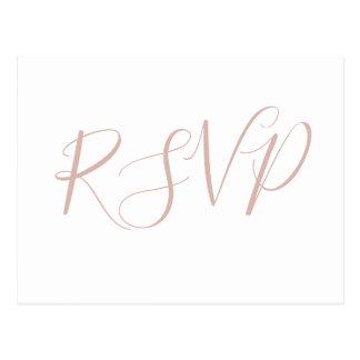 Caligrafia cor-de-rosa que wedding cartão de RSVP