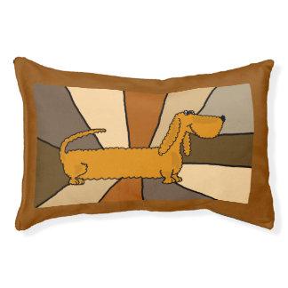 Cama engraçada do cão da arte abstracta do