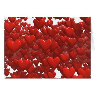 Camada de corações de flutuação cartão