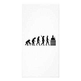Camada de tijolo do pedreiro da evolução
