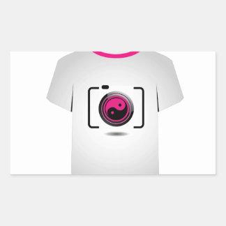 Câmara digital do molde da camisa de T Adesivo Retangular