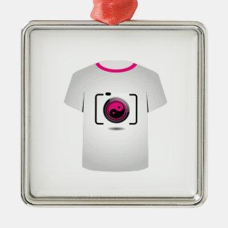 Câmara digital do molde da camisa de T Ornamento Quadrado Cor Prata