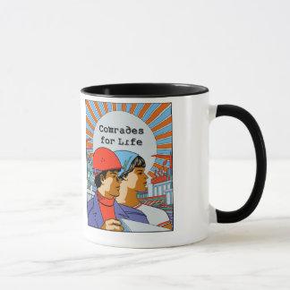 Camaradas para a caneca de café soviética da vida