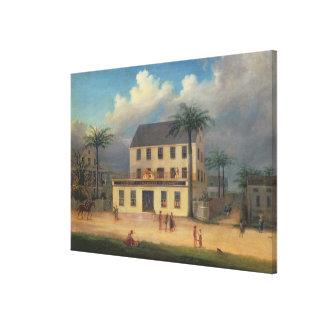 Câmaras a farmácia em Georgetown, Demerara, Impressão De Canvas Esticada