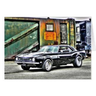 Camaro 1968 cartão comemorativo