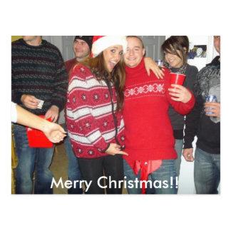 Came e Jess, Feliz Natal!! Cartão Postal