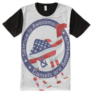CAMELO AMERICANO - CIÊNCIA É v2 IMPRESSIONANTE - Camisetas Com Impressão Frontal Completa