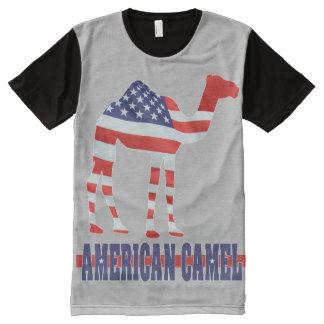 CAMELO AMERICANO v2 Camisetas Com Impressão Frontal Completa