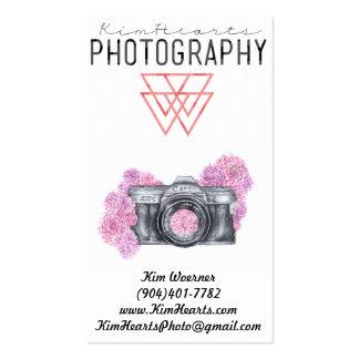 Câmera da flor do vintage cartão de visita