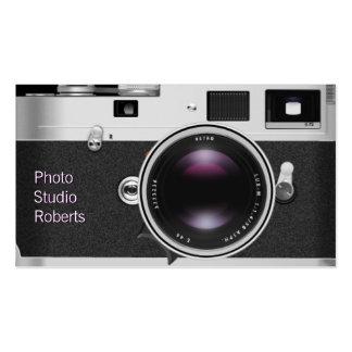 Câmera da foto cartão de visita