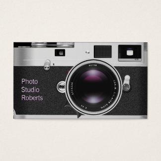 Câmera da foto cartão de visitas