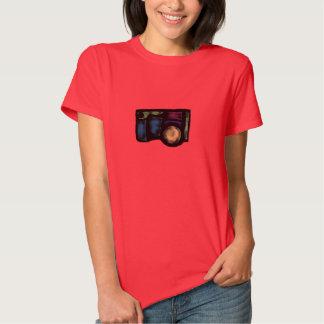 Câmera desvanecida camisetas