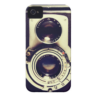 Câmera do vintage capas para iPhone 4 Case-Mate