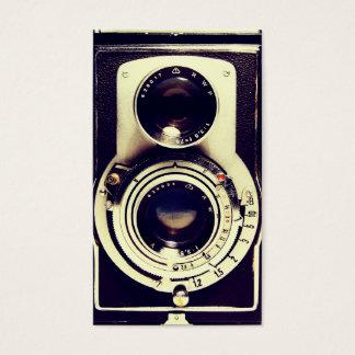 Câmera do vintage cartão de visitas