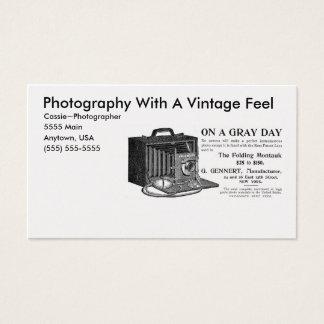 Câmera do vintage do fotógrafo cartão de visitas
