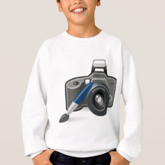Câmera e escova t-shirts