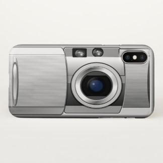 Câmera retro capa para iPhone x