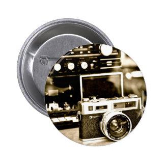 Câmera velha da foto bóton redondo 5.08cm