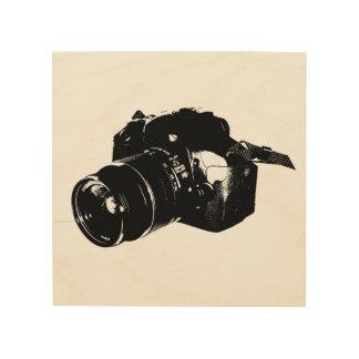 Camera Woodprint Canva De Madeira