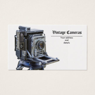 câmeras do vintage cartão de visitas
