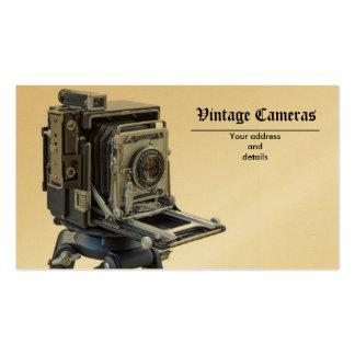 câmeras do vintage cartao de visita