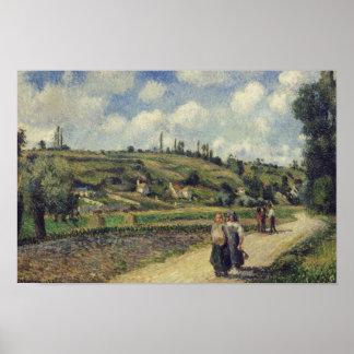 Camille Pissarro - paisagem perto de Pontoise Poster