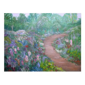 Caminhada calma da flor cartão postal