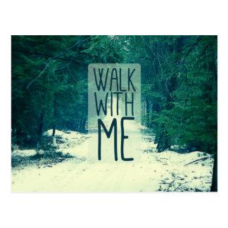 Caminhada comigo cartão postal